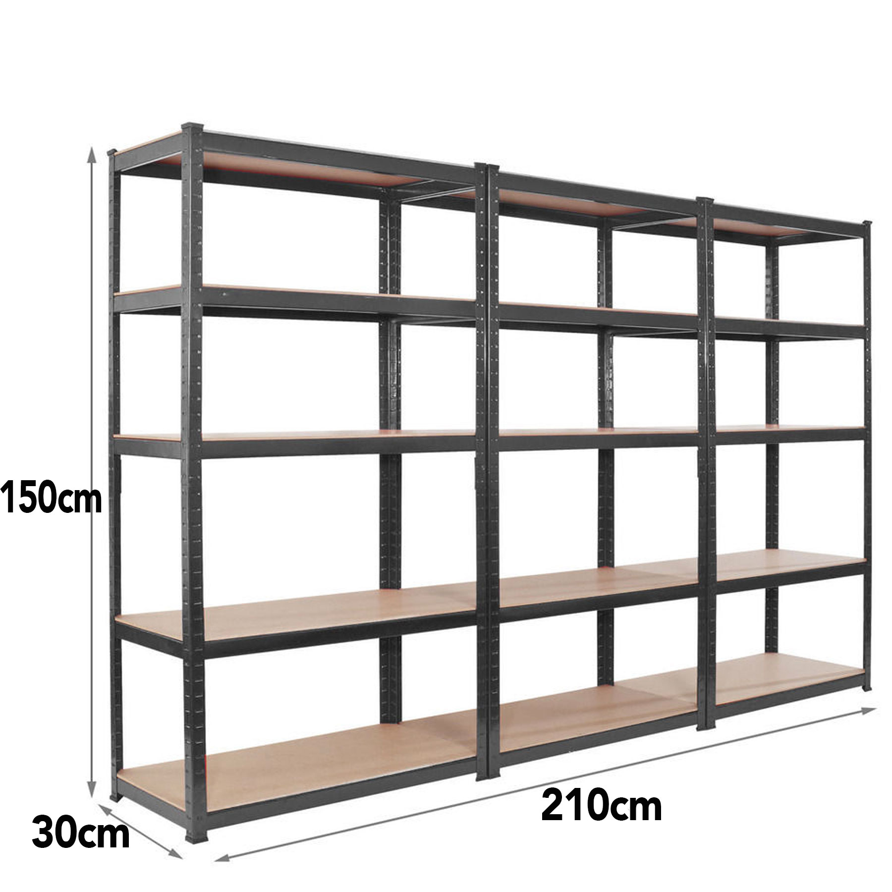storage shelving units 3 bay150cm 5 tier heavy duty boltless metal shelving 26896